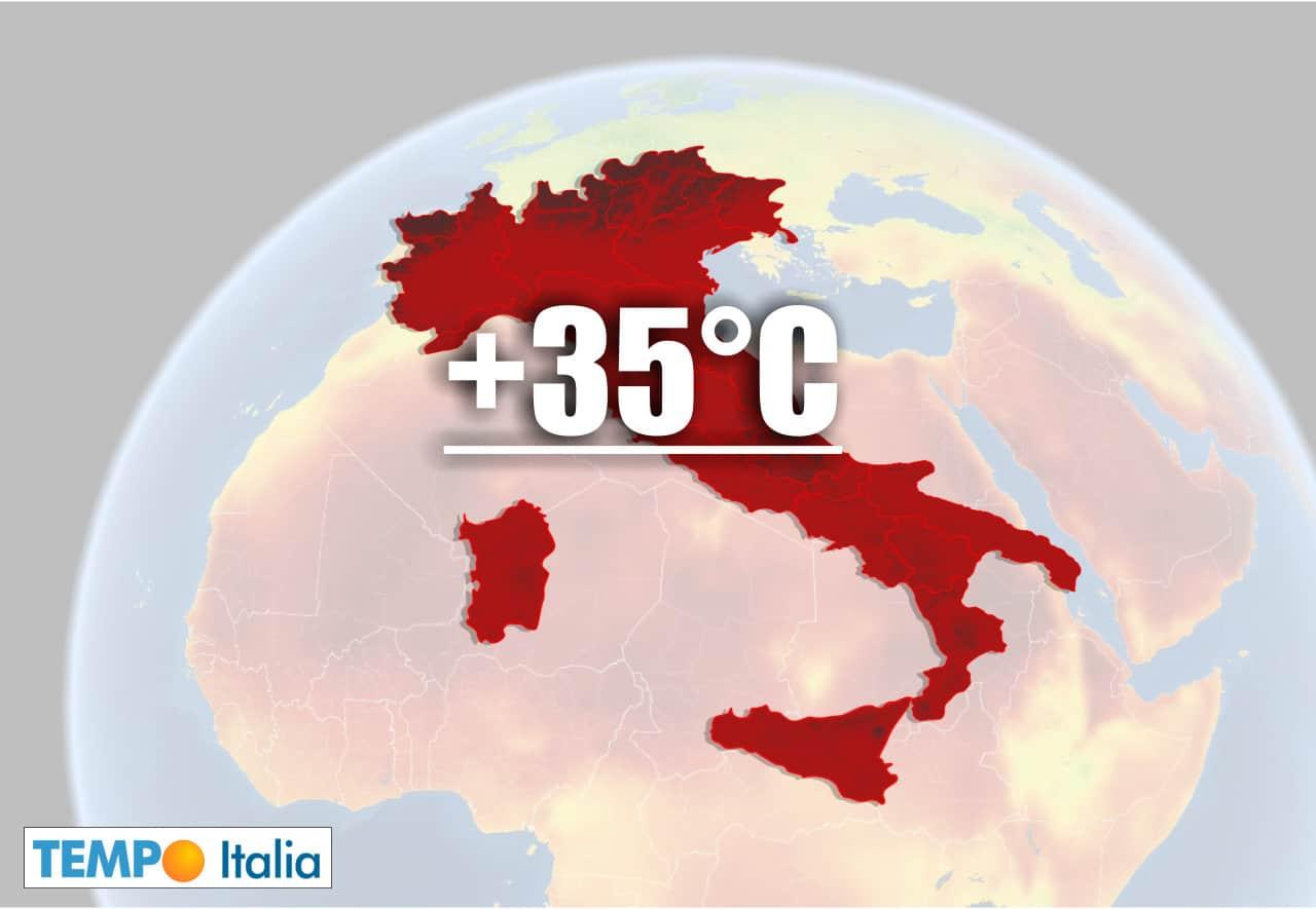 meteo con ondata di caldo - Meteo ITALIA verso ondata di CALDO Record per il Nord