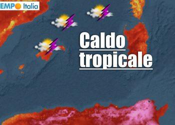 meteo sardegna caldo tropicale