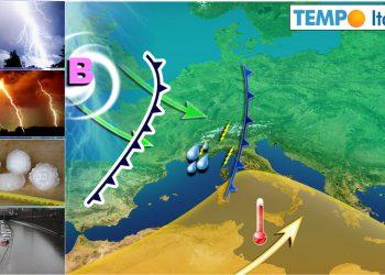Italia spaccata in due, fra temporali e caldo africano