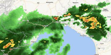 Radar meteo Liguria.