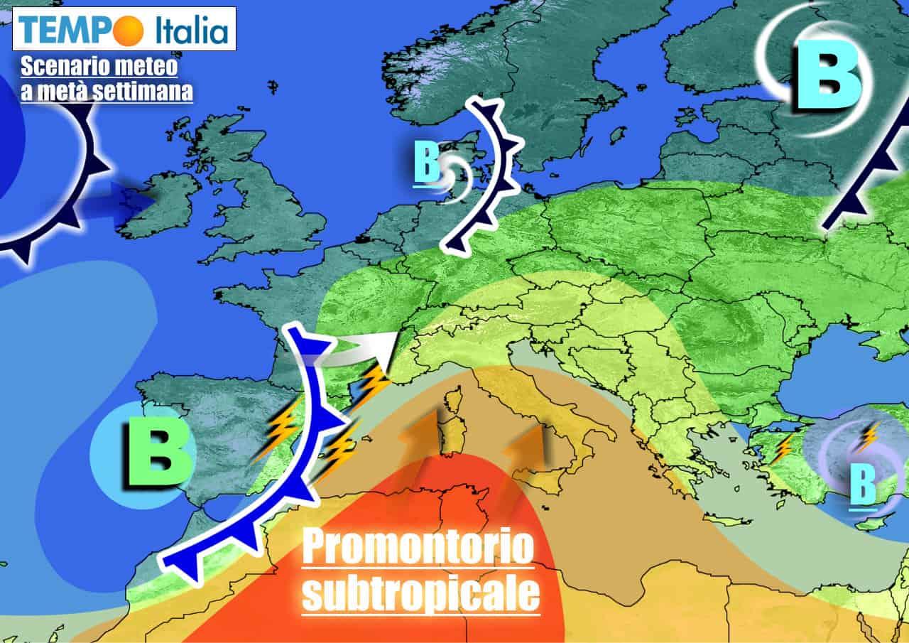 Scenario estivo sull'Italia, grazie all'anticiclone africano