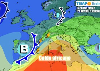 Meteo instabile al Nord e gran caldo al Centro-Sud