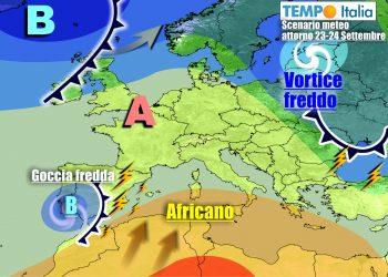 Le perturbazioni più organizzate resteranno lontane dall'Italia