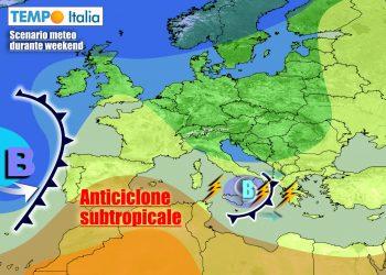 Nei prossimi giorni verrà meno il possente anticiclone in sede europea
